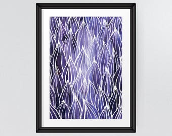 Purple Autumn Leaves, Home And Office Wall Art, Nature Print, Printable  Living Room