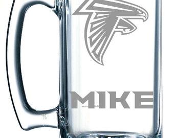 Personalized beer mug Atlanta Falcons, Gift