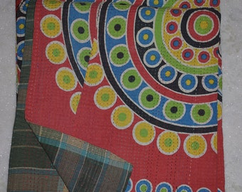 Indian Handmade Kantha Quilts Vintage Throw Bedcover Bedspread Gudri 1958 BY artisanofrajasthan