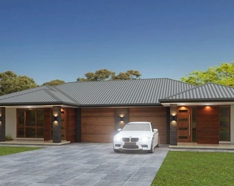 209 m2 | 5 Bed 2 bath duplex design |  3 x 2 bedroom duplex plans | 5 bedroom duplex | modern 5 bed duplex plans | Australian 5 bed Duplex