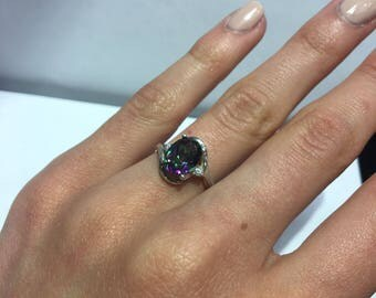 Sterling Silver Mystic Topaz Fashion Ring
