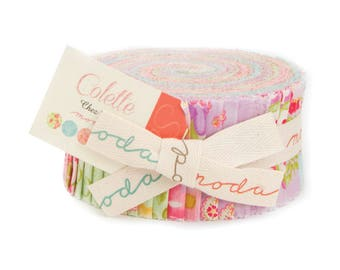 """Moda COLETTE Jelly Roll 40 2.5"""" Quilt Fabric Strips 33050JR by Chez Moi"""