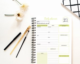 Daily planner, Daily planner printable, Daily to do list, Planners agendas, Planner inserts, A5 planner inserts