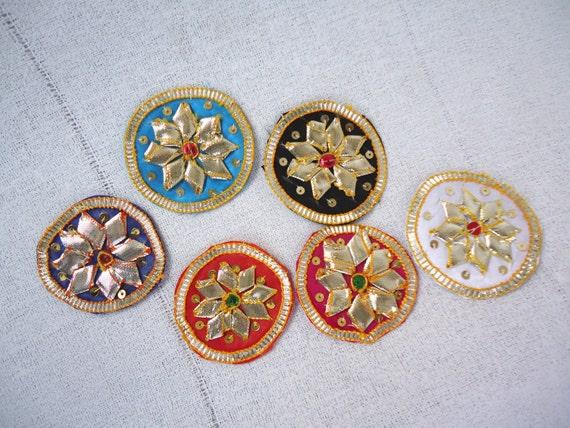 Applique flower applique lace patches handmade round applique