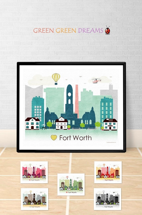 home decor stores fort worth fort worth poster print wall fort worth skyline tx 12477