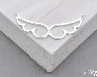925 Sterling Silver wings, wings pendant, wings charms, silver wings, wing, angel wings, angel, Guardian angel