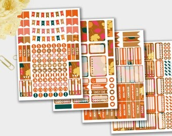 October Planner Stickers, October Stickers, Stickers, Autumn Stickers for Scrapbook,  Planner Stickers, October Monthly Sticker