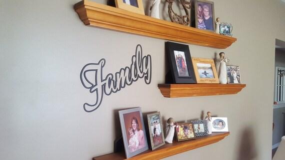 Family Word Stencil Art, Metal Art, Wall Art, Plasma Cut Metal, Home Decor, Bedroom Decor, Sign, Wall Decor