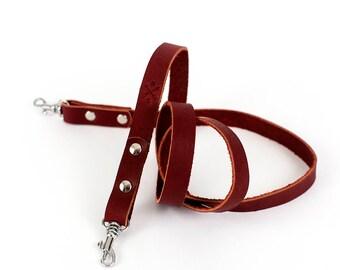 Burgundy Leather Camera Strap