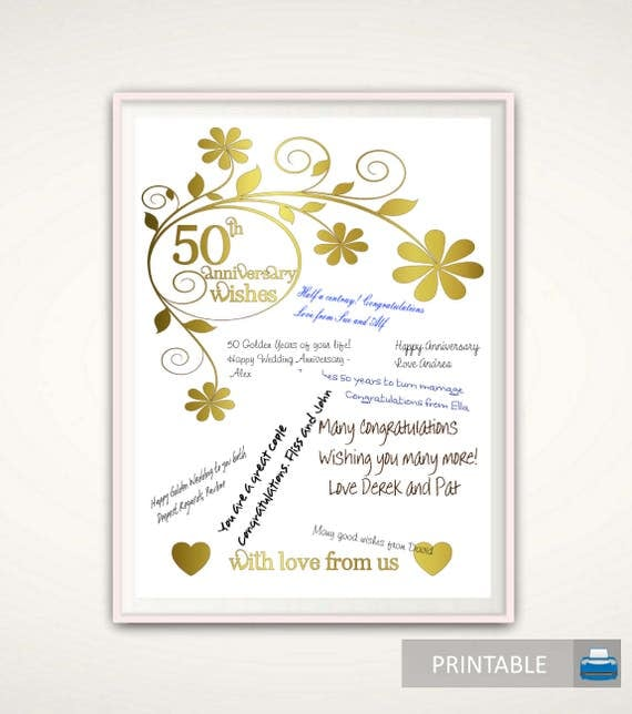 50th anniversary print 50th anniversary gifts for parents 50th anniversary print 50th anniversary gifts for parents wedding anniversary poster golden anniversary gift ideas parents printable stopboris