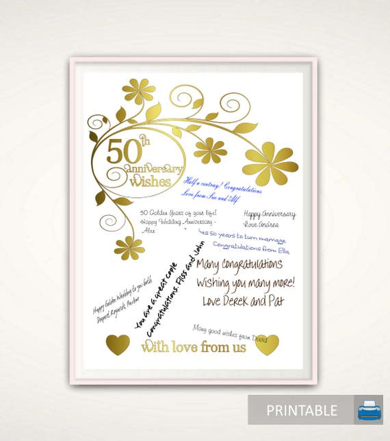 50th anniversary print 50th anniversary gifts for parents 50th anniversary print 50th anniversary gifts for parents wedding anniversary poster golden anniversary gift ideas parents printable stopboris Gallery