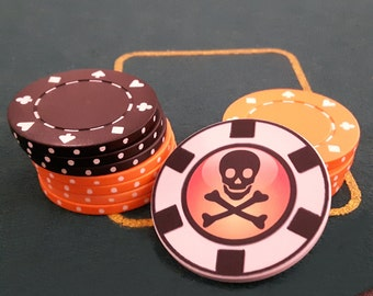 Personalised poker chip, personalised card guard, poker nickname, casino style, card guard, lucky poker chip, gambler's poker chip,