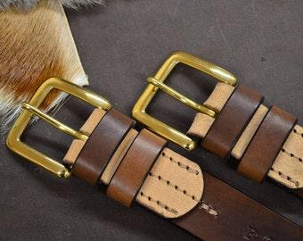 Solid brass buckle belt
