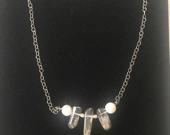 Pearl and Quartz Necklace