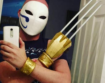 Vega mask, Street Fighter, cosplay prop, 3d printed and hand painted,