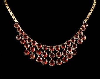 Antique Garnet Necklace 9ct Rose Gold Circa 1900