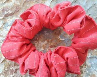 Bright /fresh pink and  white,large scrunchie/bun holder/hair tie/perfect for messy buns and pony tails and  braided hair