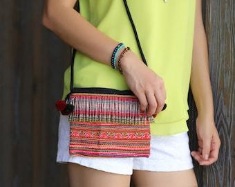 Vintage Cross Body , Bohemian bag, Ethnic bag, Hmong Bag