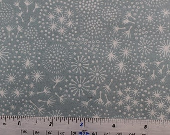 Make a Wish A58 by Lewis & Irene Turquoise with white mixture of seed heads C4