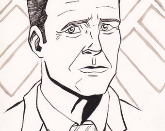 "Agent Coulson 7"" x 10"" Drawing"