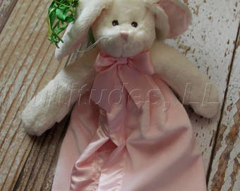 Easter: Personalized Girl Snuggler Bunny