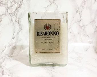Upcycled Disaronno Bottle Candle