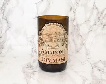 Upcycled Amarone Valpolicella Wine Bottle Candle