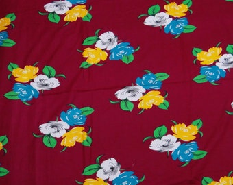 """Dressmaking Fabric, Floral Print, Quilt Material, Home Decor, Cotton Fabric, Sewing Craft, 42"""" Inch Floral Fabric By The Yard ZBC5894"""