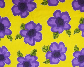 "Dressmaking Fabric, Floral Print, Yellow Fabric, Home Decor Cotton Fabric, Quilt Material, Craft Fabric, 40"" Inch Fabric By The Yard ZBC6108"