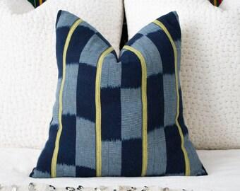African Baule Cloth Pillow 18x18
