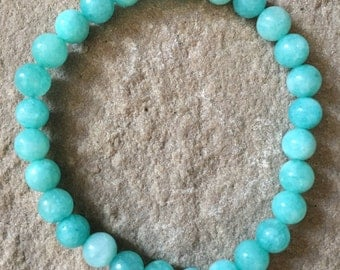 Amazonite 6mm semi precious gemstone bracelet