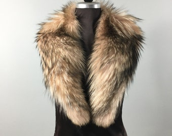 Luxury gift/ Fox Fur Collar  Women's/wedding or anniversary present