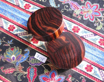 42mm Handmade Wooden Kingwood Ear Plugs Pair - Easy Care ( Overall size 43.4mm )
