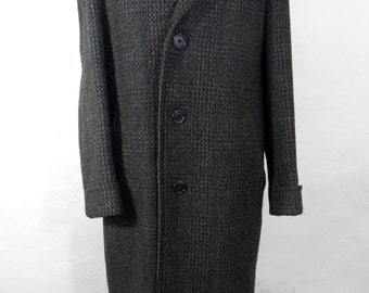 Vintage Scottish Crombie Tweed Wool Coat  Size M