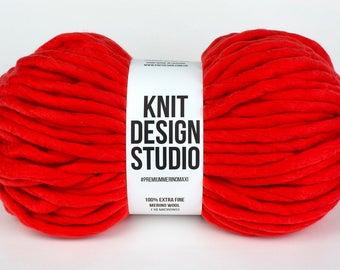 Extra Chunky Yarn, Super Thick Yarn, Chunky Blanket Yarn, Hand Spun Thick Yarn, Extreme Knitting, Big Yarn, color Lake