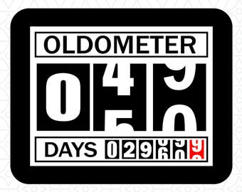 Oldometer Decal Design 50, SVG, DXF, EPS Vector files for use with Cricut or Silhouette Vinyl Cutting Machines