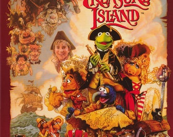 The Muppets Treasure Island  Rare Vintage Poster