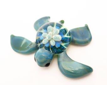 Glass Turtle Figurine
