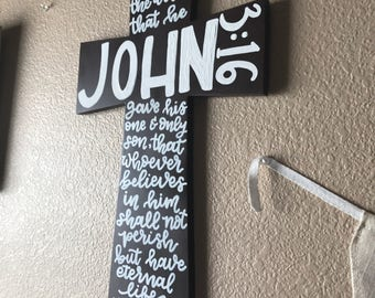 John 3:16 for God so loved the world bible verse on cross