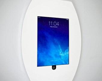 Wall Mounting iPad Surround | Ipad Holder | Wall Mounted | White Acrylic |