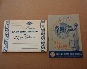 1930s New Orleans tour book + envelope -- Gray Line Tours