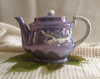 Miniature Japanese Lusterware Dragon Teapot