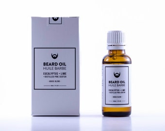 House Blend Beard Oil: Eucalyptus + Lime with Distilled Pine Scotch Needle