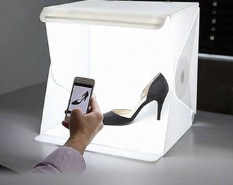 Folding Portable Lightbox Studio Take Pictures Like A Pro On The Go With A Smartphone or DSLR Camera ************* USA SELLER Fast Shipping