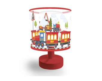 Marmelada Lights Happy Train 3D in the Meadow LED Lamp Shade Hand Made Story Nursery For Children and Kids night light