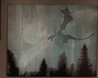 Skyrim Painting: Frost Dragon in the Fog
