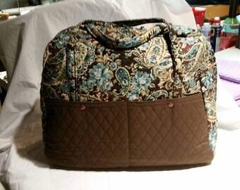 Quilted weekender bag