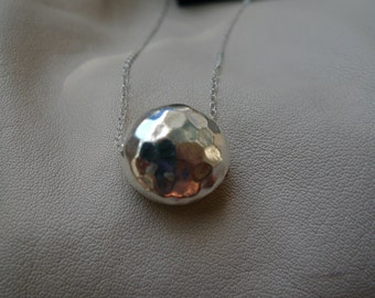Dainty everyday wear, womem's jewelry, sterling silver ball pendant, simple, layer necklace