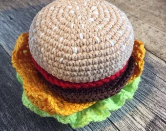 Cheeseburger Crochet Pattern PDF/Food Pattern /Crochet Pattern/Patterns & Tutorials/Play Kitchen Food