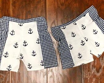 Nautical and Gingham Summer Shorts